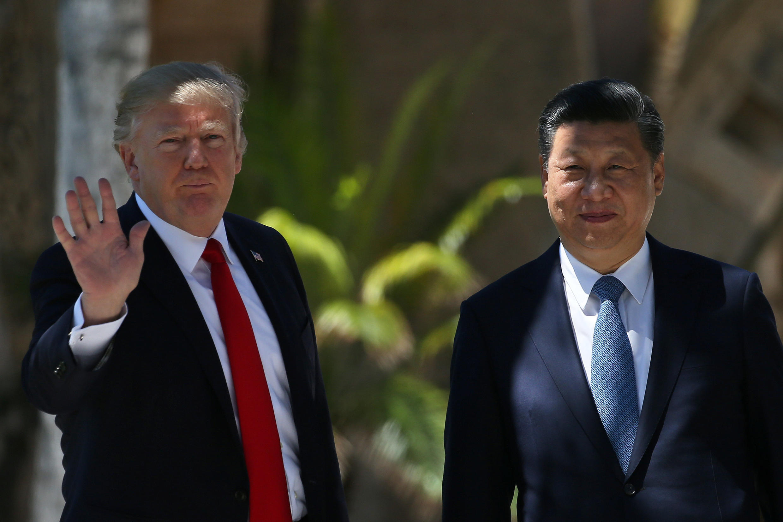 O presidente americano Donald Trump e o chinês Xi Jinping