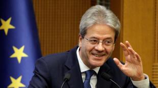 L'Italien social-démocrate Paolo Gentiloni aura en charge l'Économie. Ici, en décembre 2018 alors qu'il était président du Conseil italien.