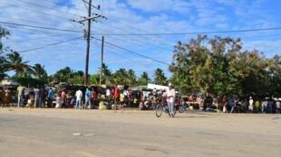 Feira em Macomia, na província de Cabo Delgado. 11 de Junho de 2018.