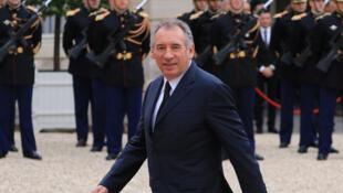 François Bayrou, le nouveau garde des Sceaux, le 14 mai à l'Elysée.