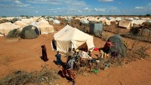Sansanin Dadaab mai dauke da 'yan gudun hijirar Somalia da suka tserewa rikicin al Shebaab, a kan iyakar Kenya da Somalia.