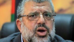 Hassan Youssef, mmoja wa viongozi wa kuu wa Hamas katika Ukingo wa Magharibi, Juni 10, 2014, ofisini mwake , Ramallah.