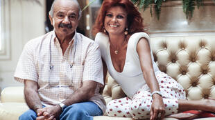 Milva and Argentine composer Astor Piazzolla in 1986