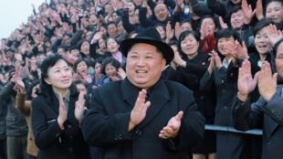 金正恩,朝鲜于2018年1月17日对外发布。