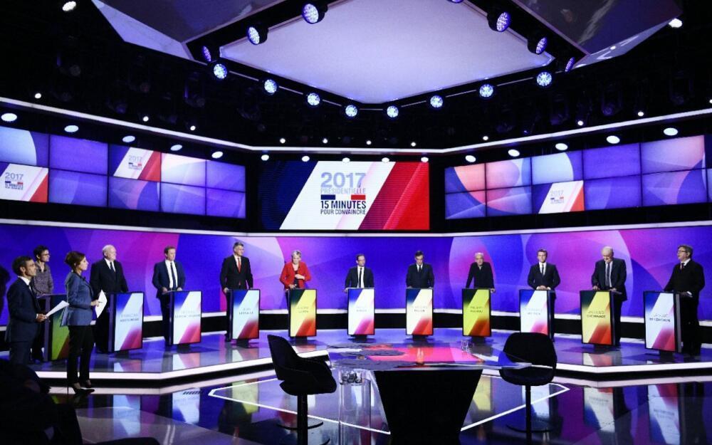 """٧نامزد انتخابات ریاست جمهوری در فرانسه، در برنامه تلویزیونی """"فرانس 2"""". پنجشنبه  ۲۰ آوریل٢٠۱٧"""