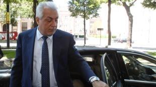 Le ministre irakien du Pétrole, Abdul Kareem Luaibi à son arrivée à Vienne où il a participé à la réunion de l'Opep, le mercredi 11 juin 2014.