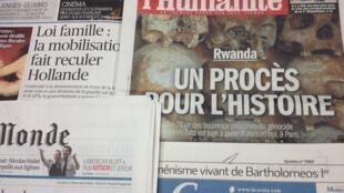 Primeiras páginas diários franceses 4/2/2014