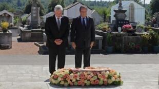 German President Joachim Gauck (L) and France's François Hollande at Oradour-sur-Glane in September