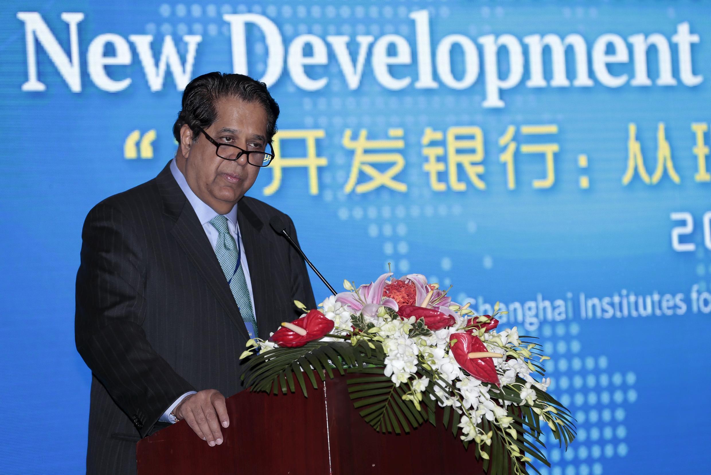 Tân chủ tịch Ngân hàng phát triển của nhóm BRICS Kundapur Vaman Kamath. Ảnh 21/07/2015