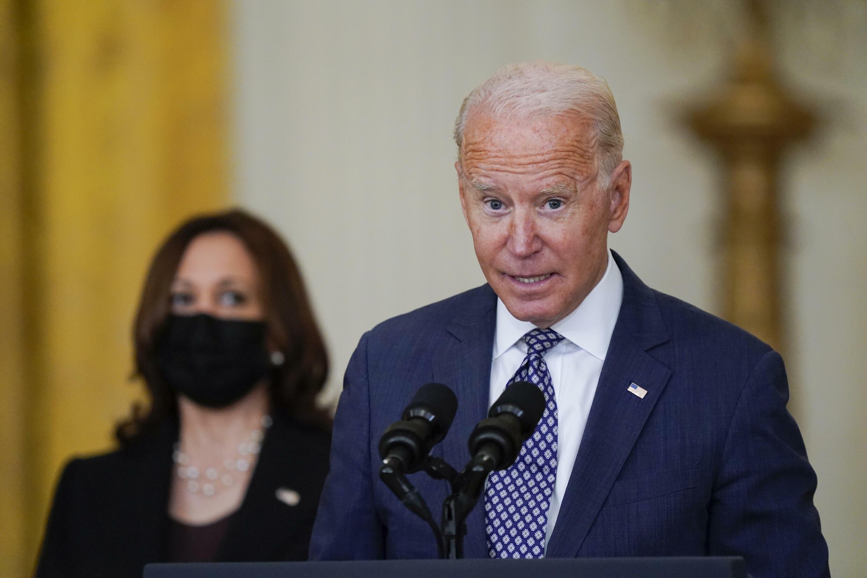2021年8月20日拜登在白宮就阿富汗人員撤離問題做演說。