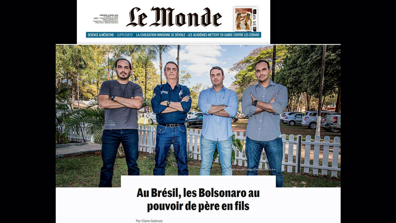 Os 100 dias do governo Bolsonaro e a influência de seus filhos no governo é destaque no jornal Le Monde.
