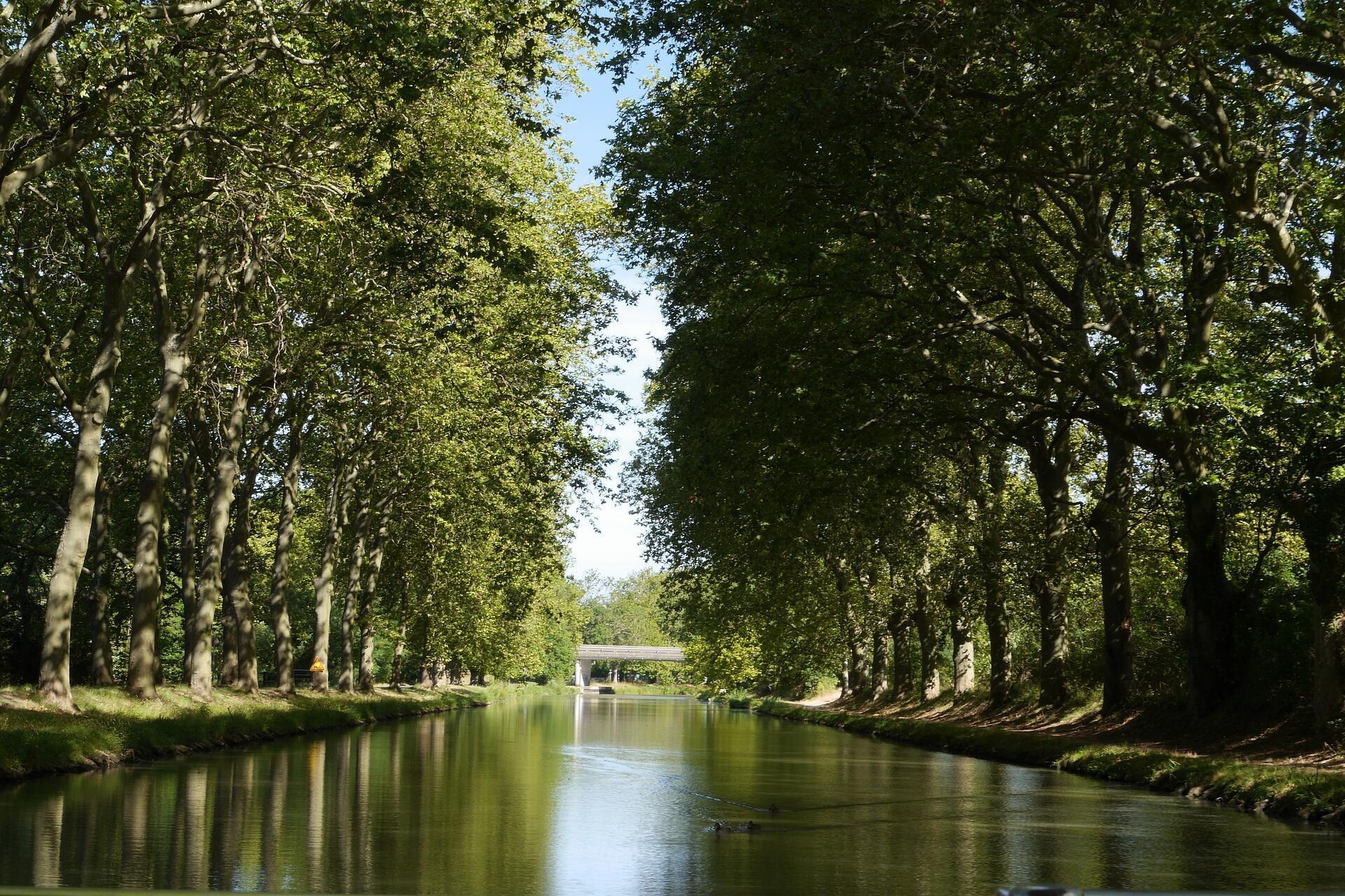 在法國圖盧茲的中部運河一景。