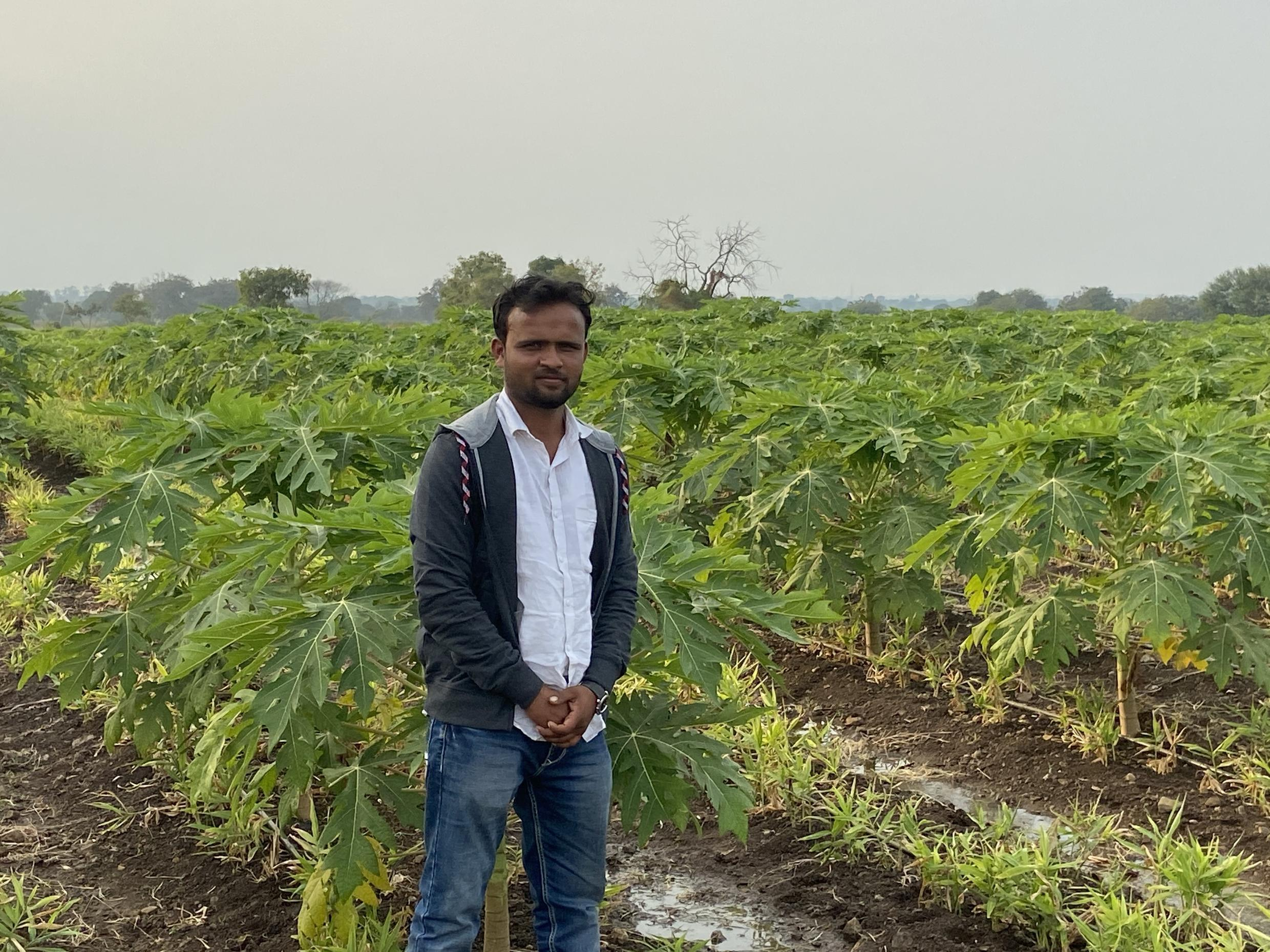 One of the farmers in Latur who is hoping for a good harvest.