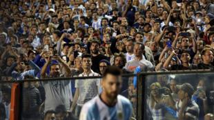 Messi a filin wasan lokacin karawar Argentina da Peru