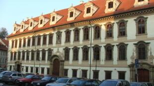 Le palais Wallenstein, où l'on trouve le siège du Sénat et du Parlement, dans le quartier de Malá Strana, à Prague, en République tchèque.