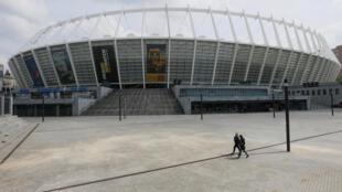 El NSC Olympic stadium de Kiev, donde se llevará a cabo la final de la Liga de Campeones.