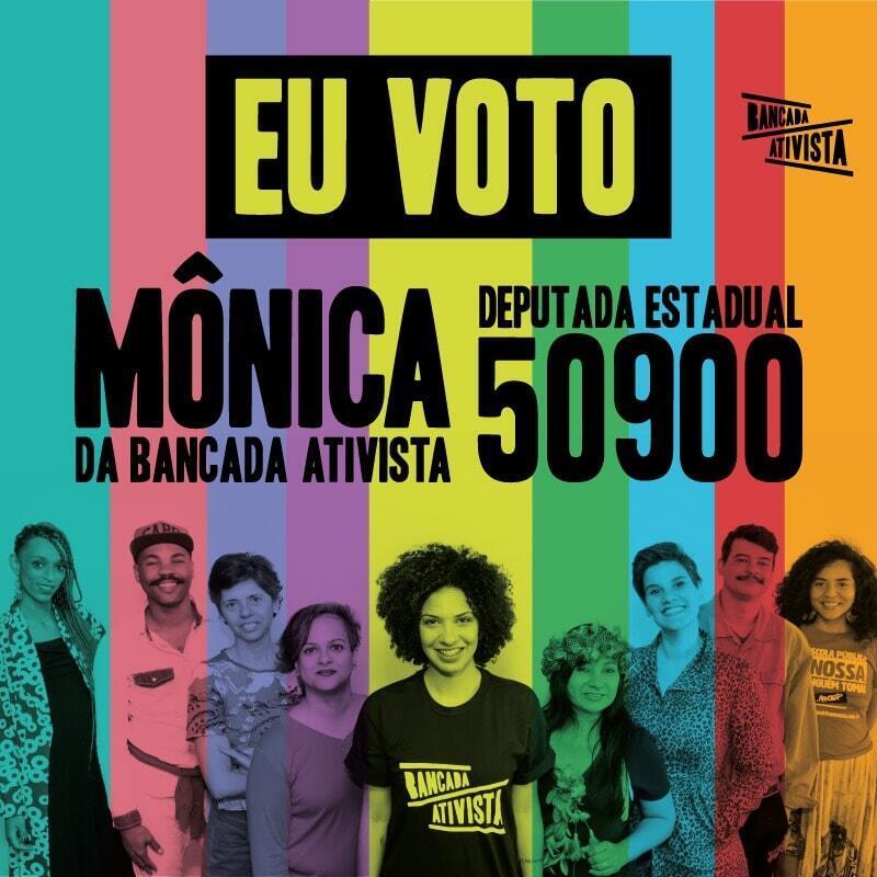 Mônica Seixas encabeça o grupo da Bancada Ativista, que disputa uma vaga na Assembleia de São Paulo.