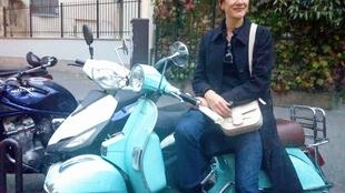 Marie Diebler says her scooter gives her freedom to move around Paris. But she will replace it with a bicycle.