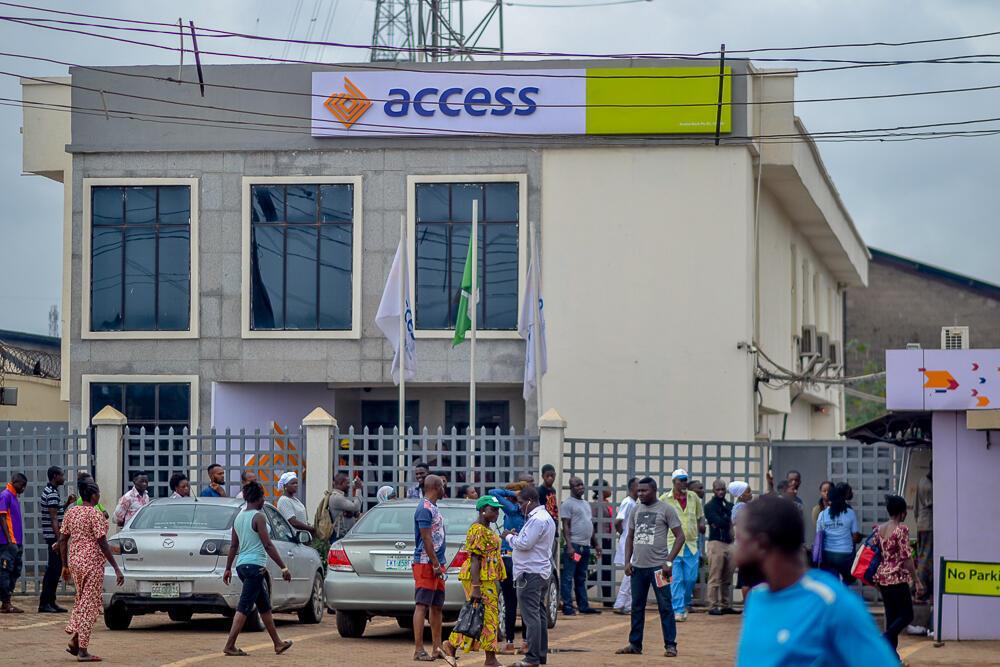 Une succursale d'Access Bank à Lagos, Nigeria.