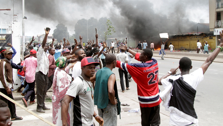 Manifestación de opositores a Joseph Kabila, el pasado 19 de septiembre de 2016 en Kinshasa.