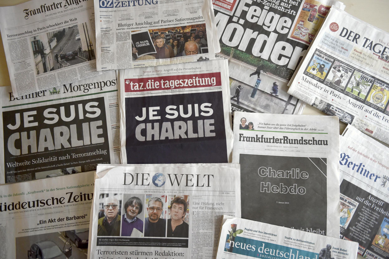 Une de la presse allemande le 8 janvier 2015 après l'attentat contre Charlie Hebdo