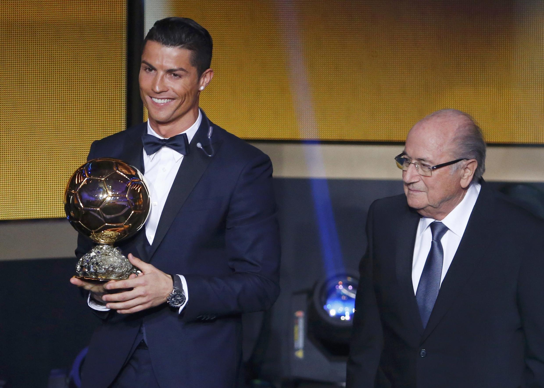 Cristiano Ronaldo, vencedor da Bola de Ouro FIFA 2014.