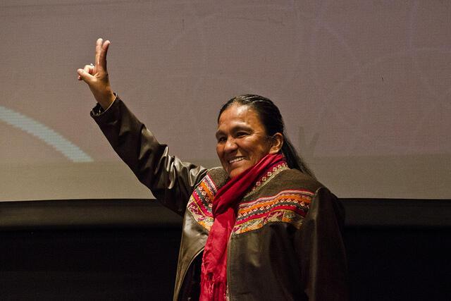 Milagro Sala, chef et fondatrice de l'organisation politico-sociale Tupac Amaru.