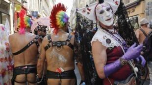The EuroPride 2013 parade in Marseille