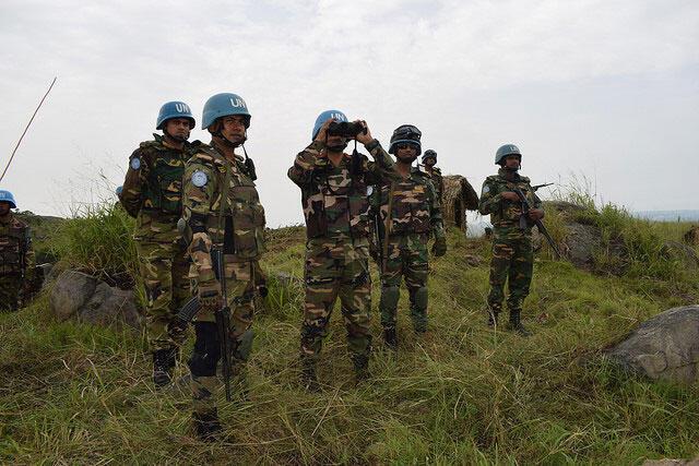 Os capacetes azuis na RDC. Imagem de Arquivo.
