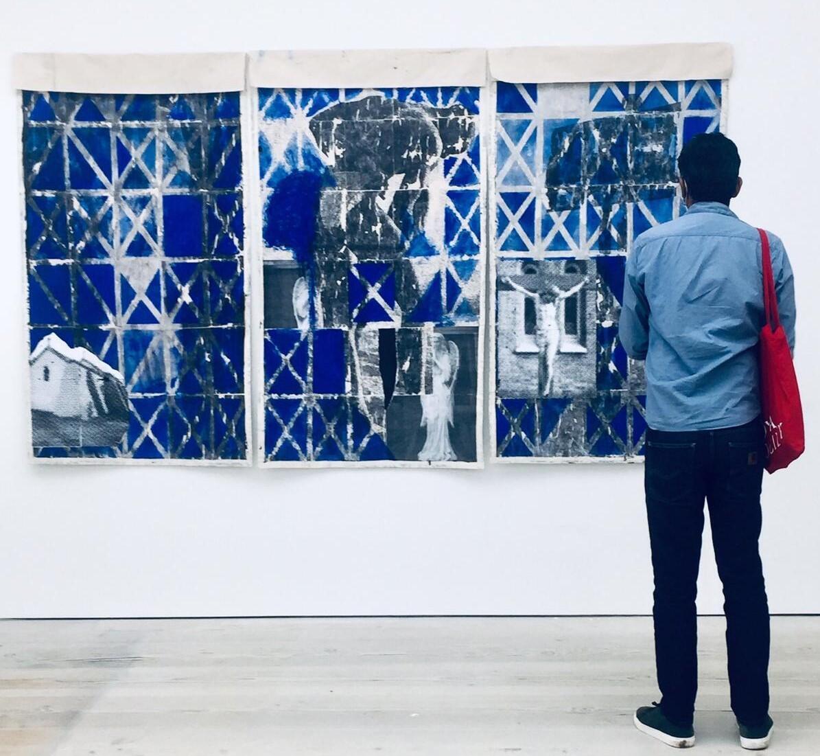 Obra de Januário Jano em exposição.
