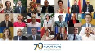Đại sứ 19 nước tại Việt Nam đọc Tuyên ngôn Quốc tế Nhân quyền bằng tiếng mẹ đẻ trong một video ngày 10/12/2018.