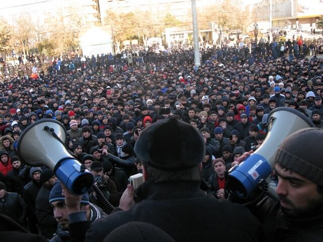 Митинг в Махачкале 25 ноября 2011 г.