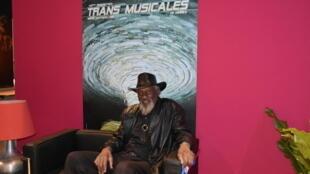 O bluesman americano Robert Finley antes do seu concerto nas quadragésimas Trans Musicais de Rennes . Rennes .05 de Dezembro de 2018