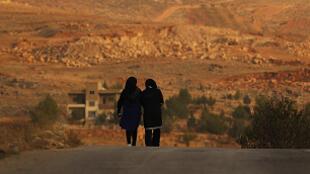 La localité libanaise de Qaa, dans la vallée de la Bekaa, frontalière avec la Syrie.