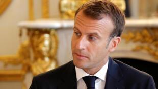 Tổng thống Pháp Emmanuel Macron họp Hội Đồng Bộ Trưởng, ngày 03/08/2018 tại điện Elysée, Paris.