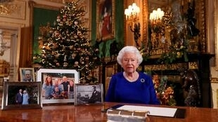 A Rainha Elizabeth II durante o tradicional discurso de Natal.