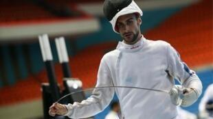 Valentin Belaud, double champion du monde de pentathlon.