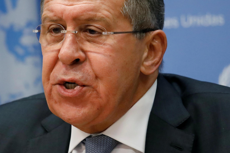 Глава МИД РФ Сергей Лавров в ООН. 19 января 2018 г.