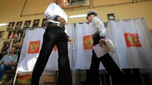 Избирательный участок в Севастополе, 18 сентября 2016.