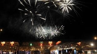A Croácia comemorou sua entrada como 28º membro da União Europeia (UE) com espetáculo de luzes, música e fogos de artifício na noite deste domingo, 30 de junho de 2013.