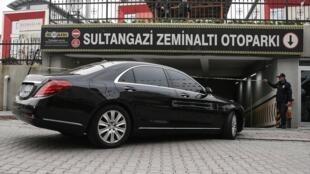 """خودروی کنسولگری سعودی در یک پارکینگ خصوصی در منطقۀ """"سلطان غازی"""" استانبول کشف شد."""