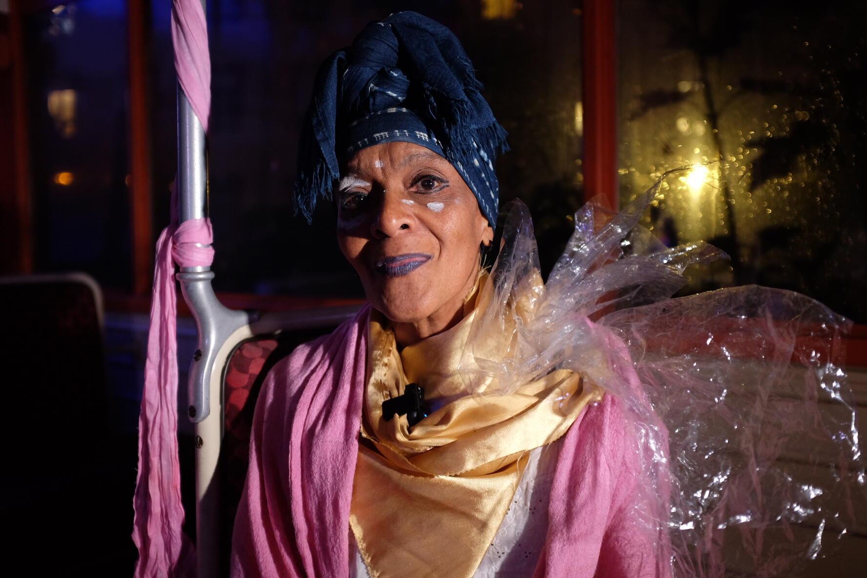 La chorégraphe martiniquaise Josiane Antourel après son spectacle participatif « Rituels vagabonds » au festival des Francophonies à Limoges, « Les Zébrures d'automne ».