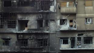 Edificios destruidos en Homs, este 17 de julio de 2012.