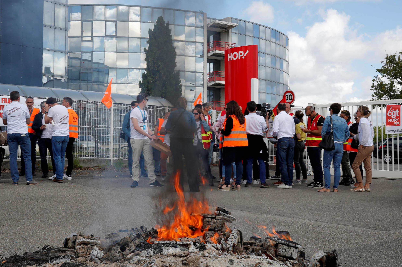 Протест сотрудников авиакомпании Hop!, филиала группы Air France