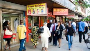 L'avenue Moi, à Nairobi, au Kenya.