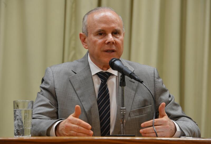 O ministro da Fazenda, Guido Mantega, participou de reuniões do FMI e do Banco Mundial em Washington.