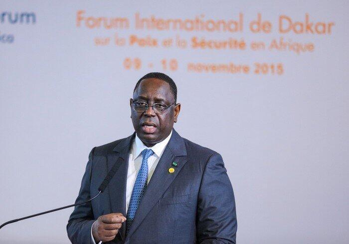 O Presidente do Senegal, Macky Sall
