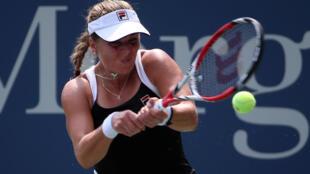 La tenista estadounidense Anna Tatishvili en septiembre de 2015, durante el torneo US Open.
