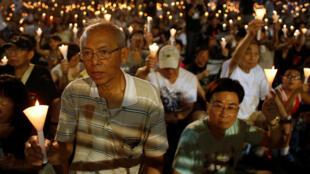 Hồng Kông thắp nến tưởng niệm nạn nhân vụ thảm sát Thiên An Môn. Ảnh ngày 04/06/2016.