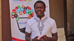 Andréas Koumato, co-fondateur et promoteur de Mossosouk, la première plateforme de e-commerce au Tchad.